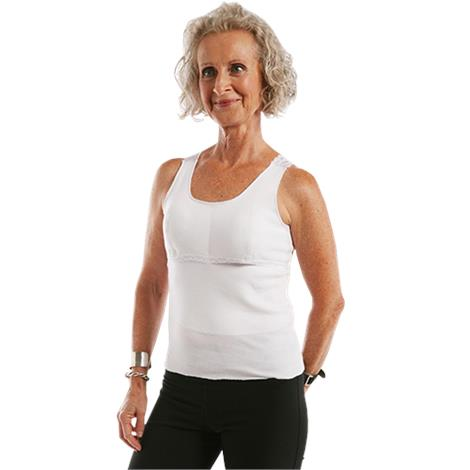 "Softee Roo White Prosthetic Camisole,Small,8"" To 10"",Each,561"