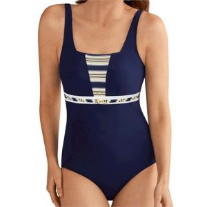 Amoena Samos Full Bodice Swimsuit,Size - 14D,Each,7117414D