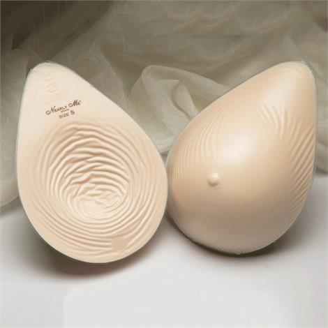 Nearly Me 875 Basic Extra Lightweight Tapered Oval Breast Form,Size 1,Beige,Each,875
