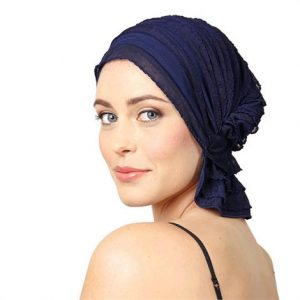 Chemo Beanies Betty Navy Blue Ruffle,Betty Navy Blue Ruffle,Each,3257