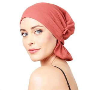 Chemo Beanies Natalie Blush Ridge Knit Head Scarf,Natalie Blush Ridge Knit Head Scarf,Each,6171