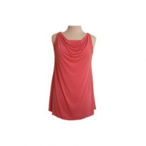 Luisaluisa Hip Long Cowl Neck Tank Top