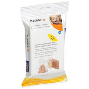 "Medela Quick Clean Breast Pump And Accessory Wipes,3-1/4"" X 7-7/8"" X 3-7/8"",40/Pack,87059"