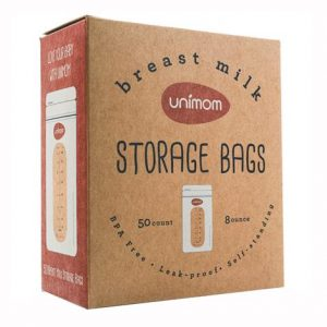 Unimom Breast Milk Storage Bags,8 Ounce,50/Pack,Mb003