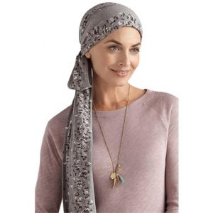 Amoena Windflower Scarf With Long Sashes,Amoena Windflower Scarf,Grey Melange,Each,43816