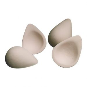Nearly Me Oval Shape Foam Filler Enhancers,Size 2,Fits A/B Cup,Pair,Scrov-2Pr-Kit