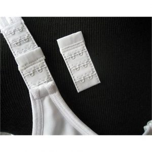 "Wear Ease Bra Strap Extenders,Black,3-1/2"" X 1"" Hook Extenders,Each,#400"